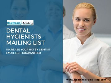 Dental Hygienists Email List