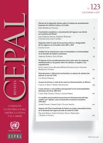 Revista CEPAL no. 123