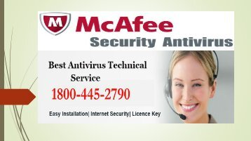 McAfee Antivirus Free with Licence  - Dial  1800-445-2790
