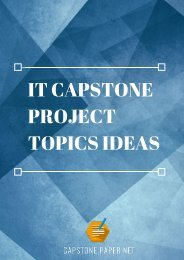 IT Capstone Project Topics Ideas