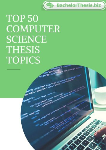 Computer Science Thesis Topics