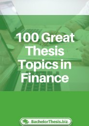 Thesis Topics in Finance