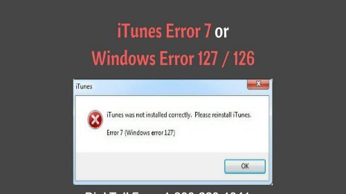 How to Fix Windows 127 Error on iTunes 1-800-220-1041 Toll free