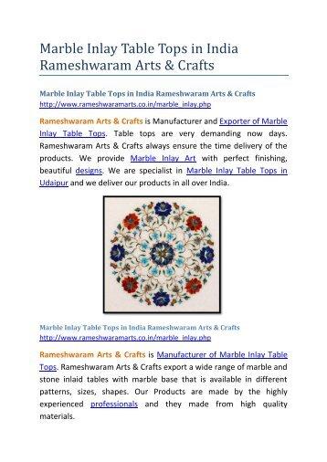 Marble Inlay Table Tops in India Rameshwaram Arts &Crafts