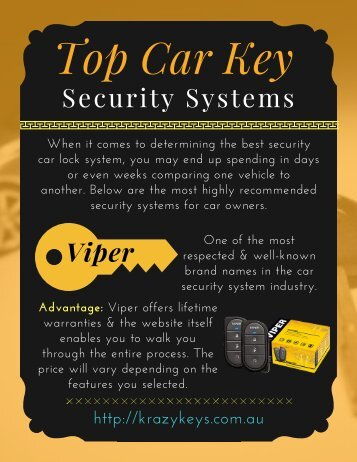 Know the Advantages of Top Car Key Security Systems