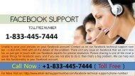 Get +1-833-445-7444 Facebook Customer Care Number