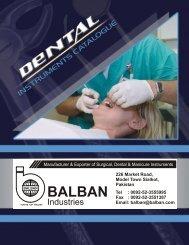 Dental Instruments Catalogue - Balban