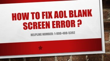1-800-488-5392 | Fix AOL Mail Blank Screen Error