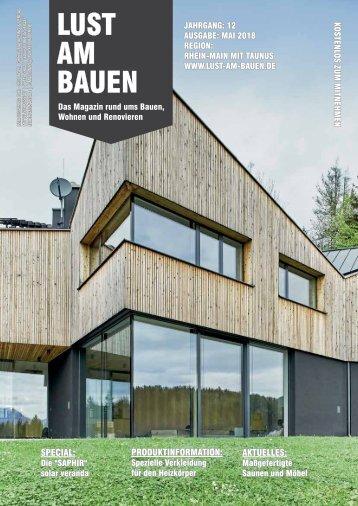 Mai 2018 Rhein-Main mit Taunus - Onlineausgabe