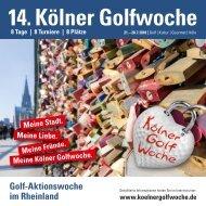 14. Kölner Golfwoche 2018, DAS Magazin