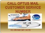 OPTUS Mail +61-180-043-1401 Customer Support Phone Number-Helpline Number