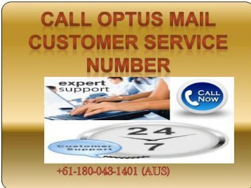 OPTUS Mail +61-180-043-1401 Customer Support Phone Number-Helpline Number
