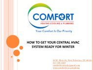 HOW TO GET YOUR CENTRAL HVAC SYSTEM READY FOR WINTER