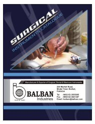 Surgical Instruments Catalogue  - Balban Industries
