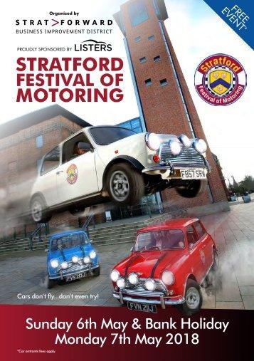 Brochure Stratford Festival of Motoring 2018 low res