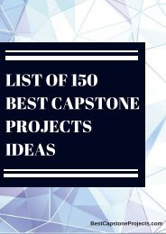 Best Capstone Project Ideas
