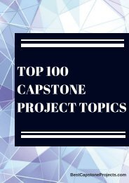 Top Capstone Project Topics