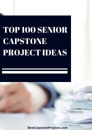 Top 100 Senior Capstone Project Ideas