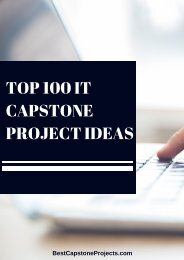 Top 100 It Capstone Project Ideas