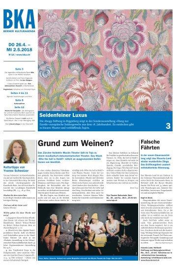 Berner Kulturagenda 2018 N°16