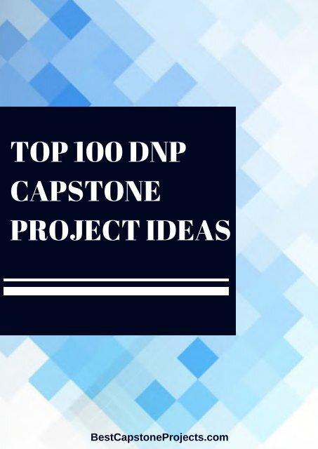 DNP Capstone Project Ideas