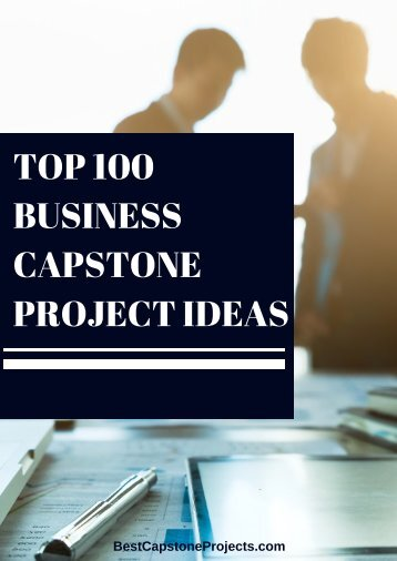 Business Capstone Project Ideas