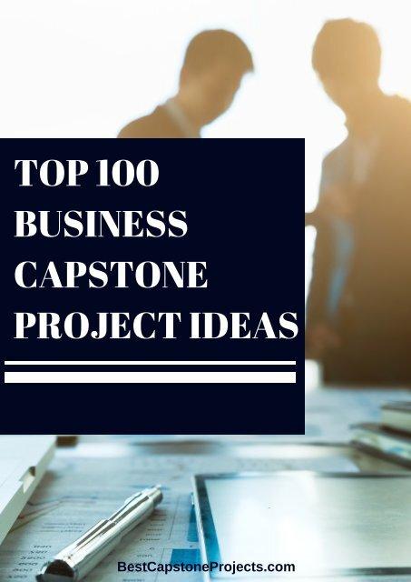 Business Capstone Project Ideas