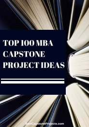 MBA Capstone Project Ideas