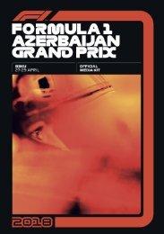 Formula 1 2018 Azerbaijan Grand Prix Official Media Kit (eng)