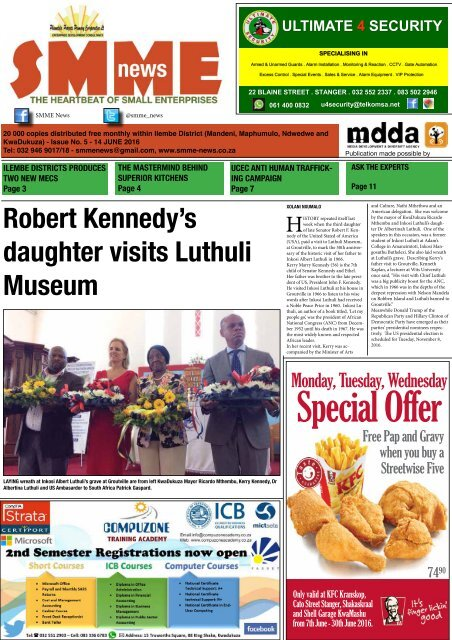 SMME NEWS - JUNE 2016 ISSUE