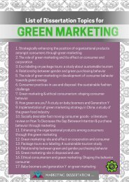 Green Marketing Dissertation Topics