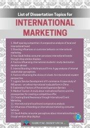 international-marketing-dissertation-topics-list