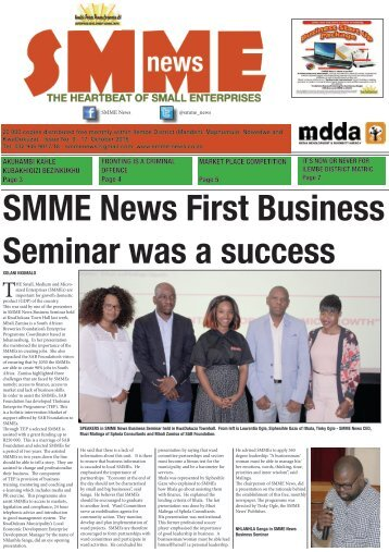 SMME NEWS - OCT 2016 ISSUE