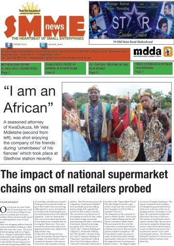 SMME NEWS - SEPT 2016 ISSUE