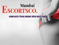 Make Your Nigh Romantic With Mumbai Escorts Agency For Pleasure