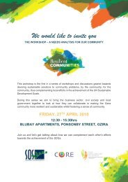 Resilient Communities Workshop Invitation, Agenda and Event Outline