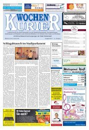 Wochen-Kurier 17/2018 - Lokalzeitung für Weiterstadt und Büttelborn