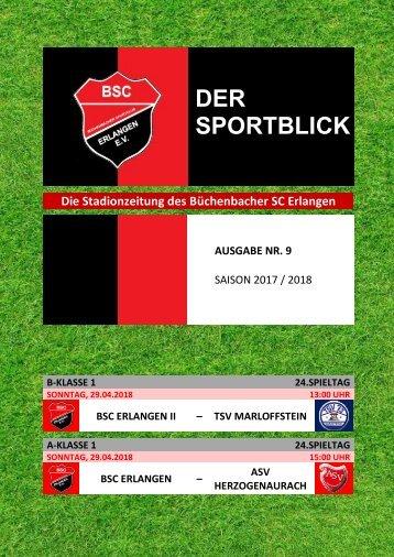 Der Sportblick (Ausgabe Nr. 09 | 17/18)
