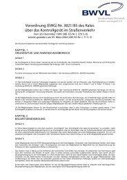 Verordnung (EWG) Nr. 3821/85 des Rates über das ... - BWVL