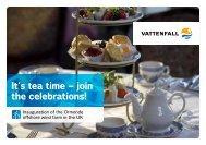 It's tea time – join the celebrations! - Husum WindEnergy