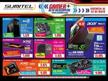 Catálogo de Tecnología Gamer SUMITEL Vig25Mayo2018