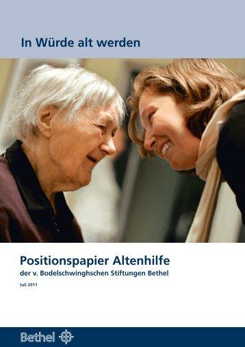 In Würde alt werden Positionspapier Altenhilfe - v ...