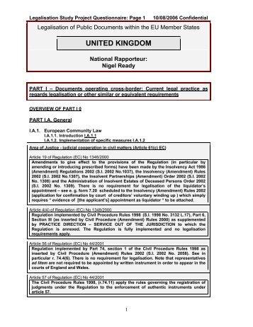 united kingdom - British Institute of International and Comparative Law