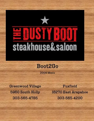 Boot2Go - The Dusty Boot