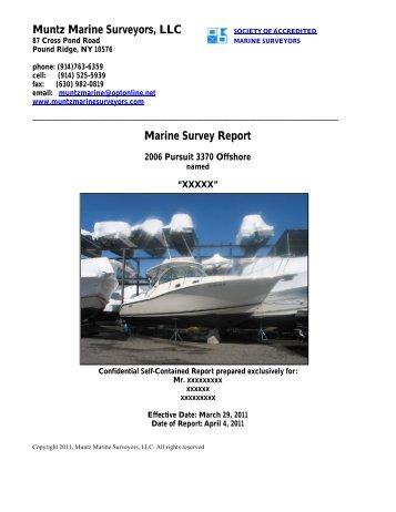 Sample Pre-Purchase Report Pursuit 3370 - Muntz Marine Surveyors
