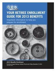 your retiree enrollment guide for 2013 benefits - RR Donnelley SPD ...