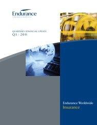 Endurance Worldwide Insurance - Q3 2011 Financial Highlights