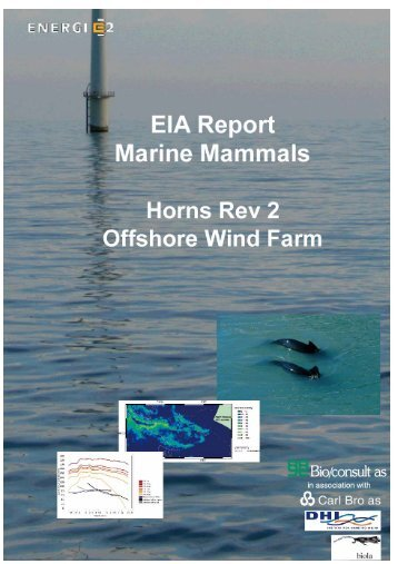 EIA Report Marine Mammals Horns Rev 2 Offshore Wind Farm