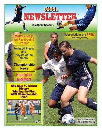 NEWSLETTER: SEP / OCT 2009 - Socceragency.net