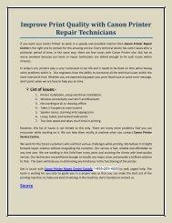 Improve Print Quality with Canon Printer Repair Technicians